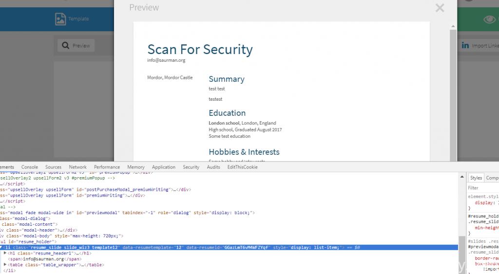 cv html code