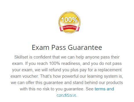 Skillset exam pass guarantee